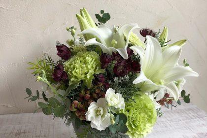 フューネルフラワー お供えの花生 花 プリザーブドフラワー
