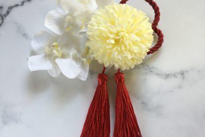 アーティフィシャルフラワー 造花 和装 成人式 振袖 髪飾り 胡蝶蘭 タッセル 卒業式 和装ウェディング