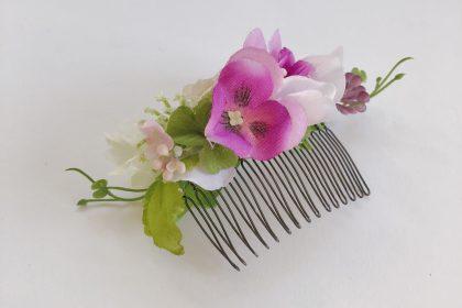 髪飾 アーティフィシャルフラワー ボタニカルコーム ウェディング 和装 卒業式