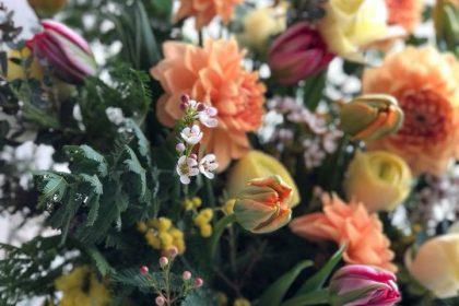 お祝い 花 カフェ 生花 フラワーアレンジメント オーダー