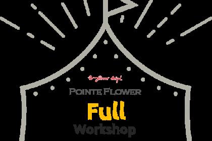 上野の森バレエホリディ2018 バレエマルシェ 開催 花かんむりをつくるワークショップ Pointe Flower ポアフラ トウシューズ バレエ雑貨 フラワーアレンジメント