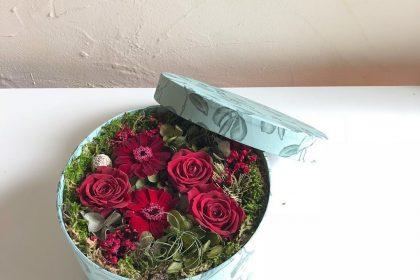 還暦 お祝い 贈る プリザーブドフラワー アレンジメント 花材 ボックス