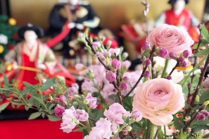 桃の節句 ひな祭り 早春 小花 アレンジメント ワークショップ レッスン